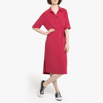 Esprit Midi Shirt Dress with Tie-Waist