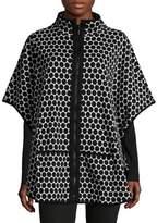 Joan Vass Dot Poncho Jacket