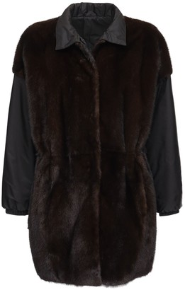 Simonetta Ravizza Reversible Parka Coat W/ Fur