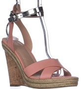 Charles David Charles Brit Wedge Sandals, Blush/Silver, 8 US