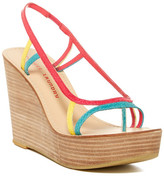 Chinese Laundry Ravenous Platform Wedge Leather Sandal