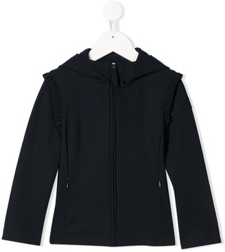 Il Gufo Ruffle Detail Hooded Jacket