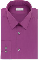 Calvin Klein STEEL Men's Slim-Fit Non-Iron Performance Herringbone Dress Shirt