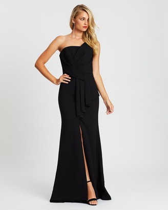 Montique - Women's Black Maxi dresses - Hope Strapless Gown - Size One Size, 14 at The Iconic
