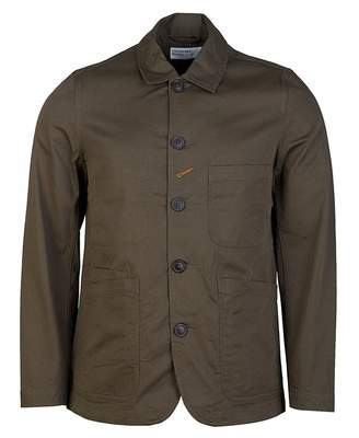Universal Works Twill Bakers Jacket Colour: NAVY, Size: SMALL