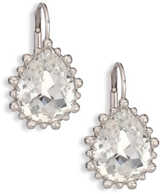 Anzie Dew Drop White Topaz Drop Earrings