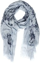 Destin Surl Butterflies Print Modal & Cashmere Scarf