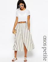 Asos Stripe Button Through Midi Skirt