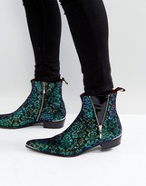 Jeffery West Adam Ant Iridescent Zip Boots