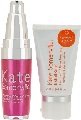 Kate Somerville Wrinkle Warrior Eye Gel & Exfolikate Intensive Mini