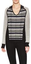 Ohne Titel Textured Knit Scoopneck Sweater