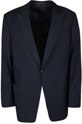 Armani Collezioni Navy Blue Wool Tailored Regualr Fit Blazer 3XL