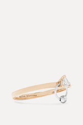 Delfina Delettrez 18-karat Yellow And White Gold Diamond Ring - 6