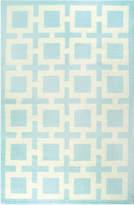 Jonathan Adler Light Blue Nixon Peruvian Flat Weave Rug