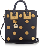 Sophie Hulme Albion Square polka-dot embellished leather tote