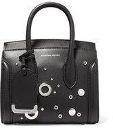 Alexander McQueen Heroine Small Embellished Leather Tote - Black