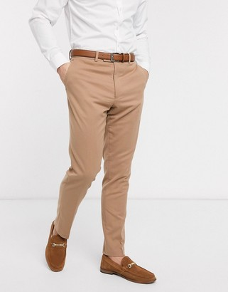 French Connection wedding slim fit flannel suit trousers