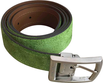 Burberry Green Leather Belts