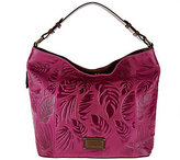 Tignanello As Is Palm Embossed Glazed Vintage Leather RFID Hobo Bag