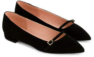 1e4f2f8fc28 Gwen Pieced Mary Jane Suede Ballet Flat