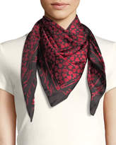 Karl Lagerfeld Hearts and Silk Scarf