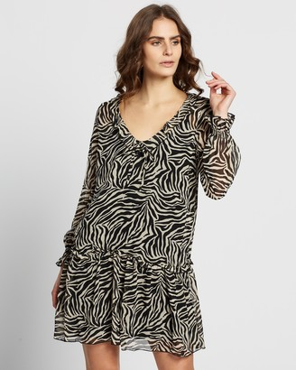 Dorothy Perkins Animal Chiffon Smock Shift Dress