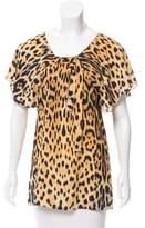 Roberto Cavalli Leopard Silk Blouse