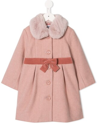 Familiar Fur Collar Coat