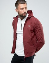 Fred Perry Brentham Hooded Jacket In Burgundy