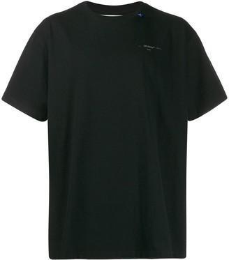 Off-White cross logo print T-shirt
