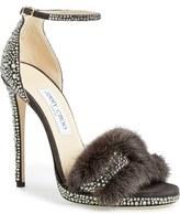 Jimmy Choo 'Kaylee' Genuine Mink Fur Sandal (Women)