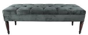 Mjl Furniture Designs MJL Furniture Claudia Diamond Tuft Mystere Upholstered Long Bench