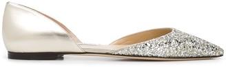 Jimmy Choo Esther glitter ballerina shoes