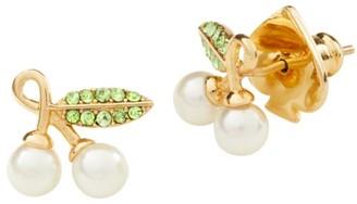 Kate Spade Crystal Cherry Stud Earrings