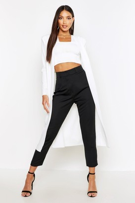 boohoo Ruched Waist Maxi Duster Jacket