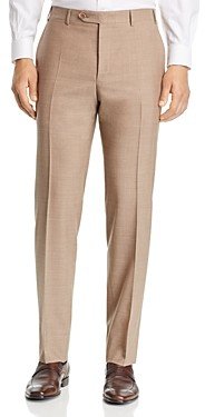 Canali Siena Tropical-Weave Solid Classic Fit Dress Pants