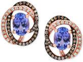 Effy Tanzanite Royalandeacute; by EFFYandreg; Tanzanite (1-1/3 ct. t.w.) and Diamond (1/3 ct. t.w.) Stud Earrings in 14k Rose Gold