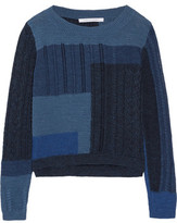Diane von Furstenberg Padma Intarsia-Knit Cotton Sweater