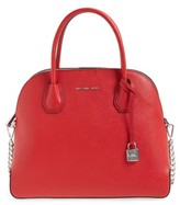 MICHAEL Michael Kors Michael By Michael Kors Large Mercer Leather Dome Satchel - Red