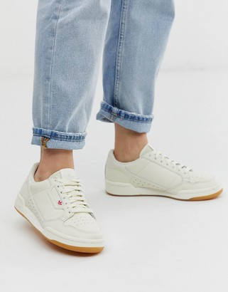 adidas Continental 80's trainers in off white with gum sole