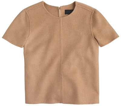 J.Crew Collection double-faced cashmere T-shirt