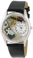 Whimsical Watches Women's S0640005 Psychiatrist Black Leather Watch