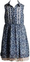 Youngland Girls 4-6x Collared Paisley Dress
