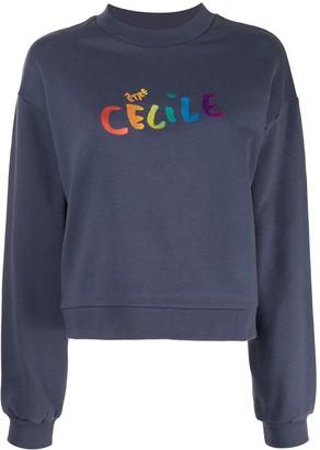 Être Cécile Logo Print Sweatshirt