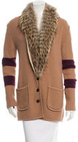 Timo Weiland Wool Fur-Trimmed Cardigan