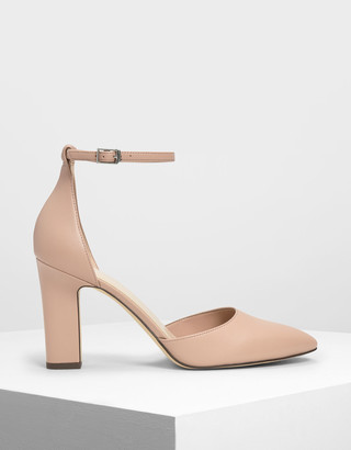 Charles & Keith D'Orsay Ankle Strap Pumps