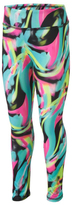 adidas Pink & Turquoise Abstract Leggings - Toddler & Girls