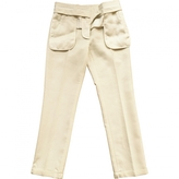 Givenchy White Wool Trousers