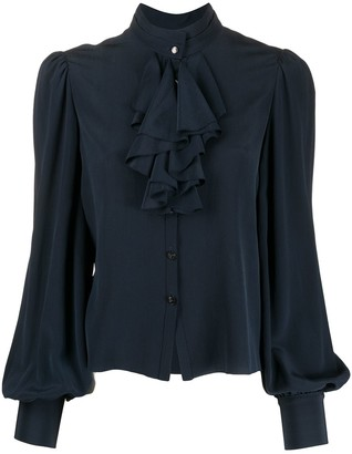 Temperley London Silk Ruffle Trim Blouse