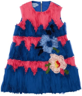 Mi Mi Sol Cotton Satin & Crepe Party Dress
